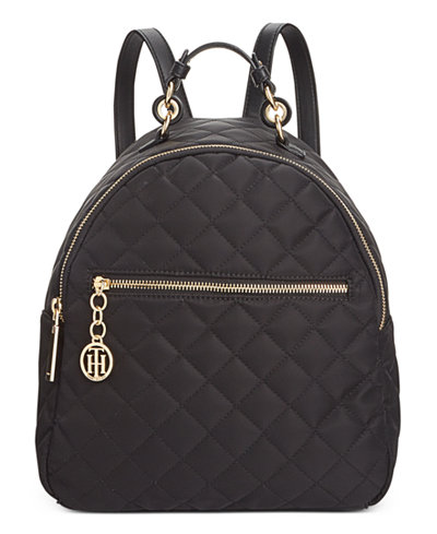 Tommy Hilfiger Isabella Quilted Nylon Dome Backpack A