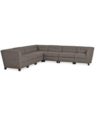 Harper Fabric 6 Piece Modular Sectional Sofa, Created For Macyu0027s