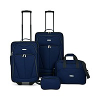 4-Piece Travel Select Kingsway Luggage Set (Navy/Green)