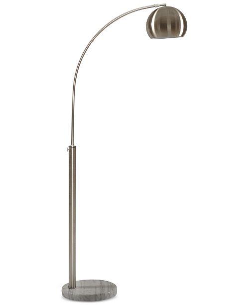 INK+IVY Menlo Nickel Floor Lamp