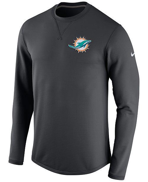 Nike Men's Miami Dolphins Modern Crew Long-Sleeve T-Shirt
