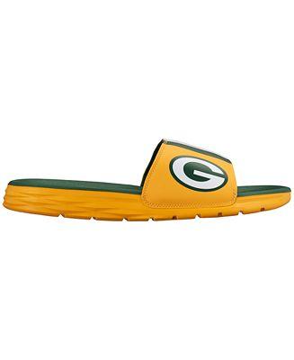 Nike Men's Green Bay Packers Benassi Solarsoft Slides