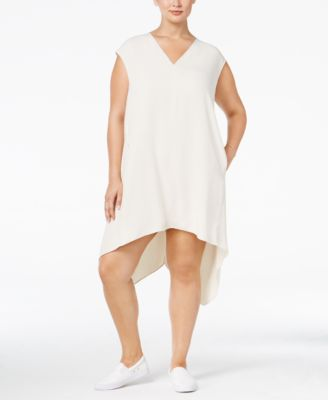 RACHEL Rachel Roy Curvy Trendy Plus Size Sydney Handkerchief-Hem Dress