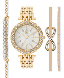 I.N.C. Women's Bracelet Watch and Bracelets Set 34mm, Created for Macy's