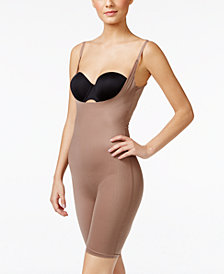 SPANX Women's  Two-Timing Open-Bust Mid-Thigh Bodysuit 10048R