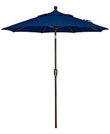 Outdoor Bronze 7.5' Push Button Tilt Umbrella, Quick Ship