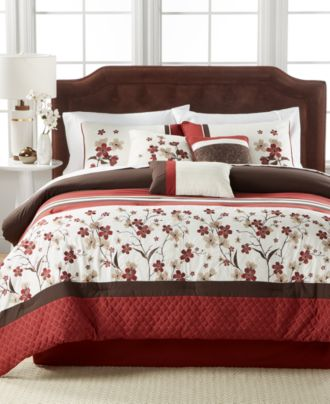 eden 7-pc. comforter set, created for macy's - bed in a bag - bed