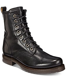 Women's Veronica Combat Leather Booties