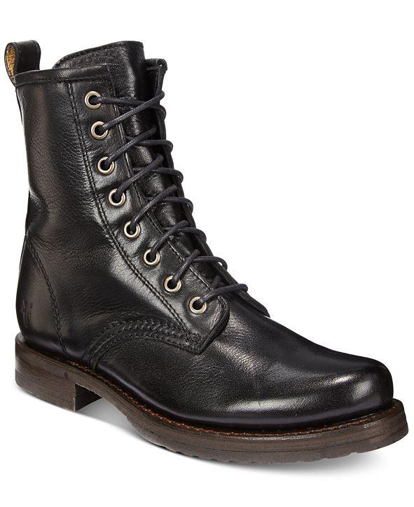 Frye Women's Veronica Combat Leather Booties