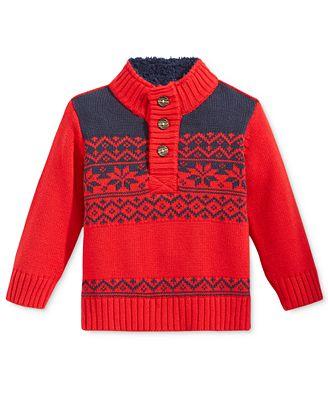Tommy Hilfiger Baby Boys' Dayton Fair Isle Sweater - Sweaters ...