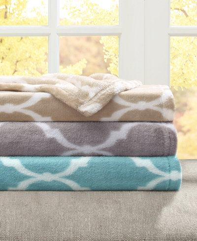 Madison Park Microlight Ogee Print Blankets