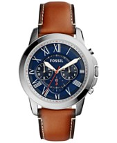 e9ab24010090 Fossil Men s Chronograph Grant Light Brown Leather Strap Watch 44mm FS5210