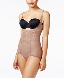 Leonisa Women's  Firm Tummy-Control WYOB Vintage Interlace Bodysuit 018475