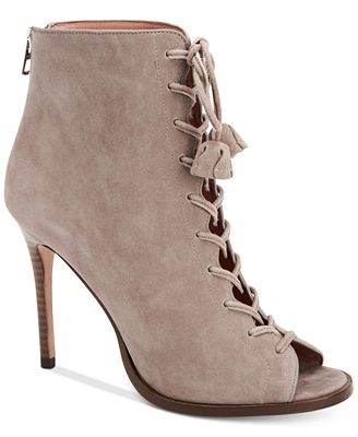 COACH Lena Peep Toe Booties