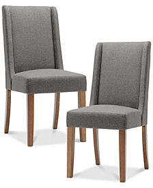 Brody Set of 2 Wing Dining Chairs, Quick Ship
