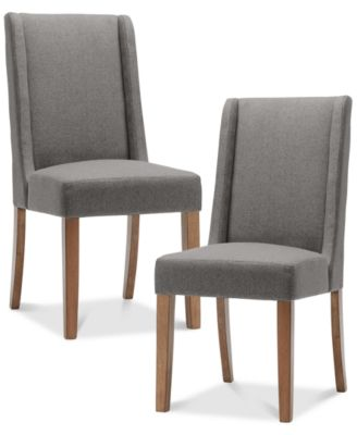 Great Brody Set Of 2 Wing Dining Chairs, Quick Ship