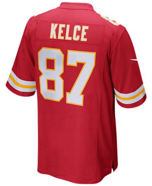half off 577b5 7196b Men's Travis Kelce Kansas City Chiefs Game Jersey