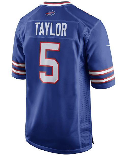 Nike Men's Tyrod Taylor Buffalo Bills Game Jersey Sports Fan Shop