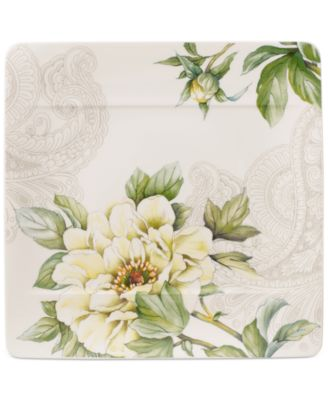 Quinsai Garden Collection Peony Square Salad Plate