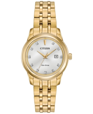 Citizen Women's Pairs Diamond Accent Gold-Tone Stainless Ste