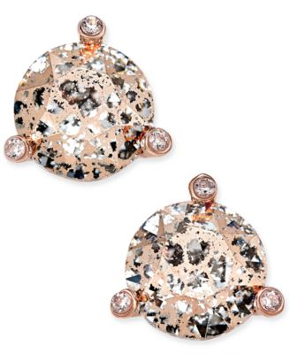 kate spade new york Rose GoldTone Crystal and Stone Stud Earrings