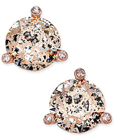 kate spade new york Rose Gold-Tone Crystal and Stone Stud Earrings