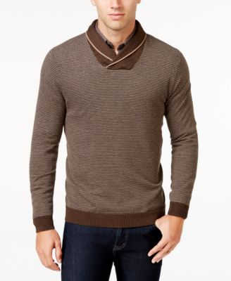 Tasso Elba Mens Big and Tall Shawl,Collar Sweater, Only at Macys