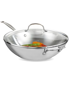 """Cuisinart Chef's Classic Stainless Steel 14"""" Covered Stir Fry"""