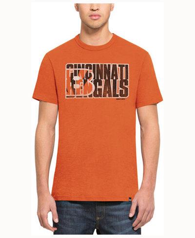 '47 Brand Men's Cincinnati Bengals Wordmark Scrum T-Shirt