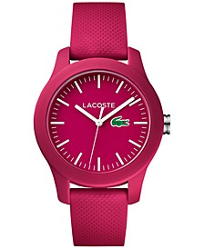 Women's 12.12 Pink Rubber Strap Watch 38mm 2000957