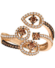 Le Vian Chocolatier®  Chocolatier Diamond Bypass Statement Ring (5/8 ct. t.w.) in 14k Rose Gold
