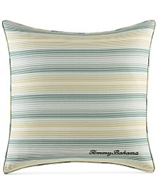 "CLOSEOUT! Tommy Bahama Home Cuba Cabana Stripe 18"" Square Decorative Pillow"
