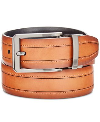 Ryan Seacrest Distinction Men's Feather-Edge Reversible Dress Belt, Only at Macy's