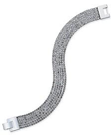 Rose Gold-Tone Pavé Mesh Link Bracelet, Created for Macy's