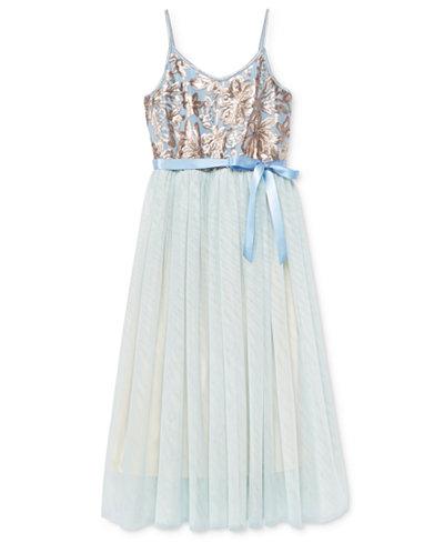 Pink & Violet Embellished-Bodice Ballerina Dress, Big Girls (7-16)