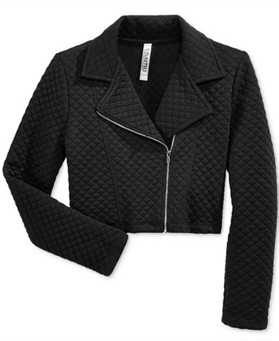 Beautees Quilted Moto Jacket, Big Girls (7-16)