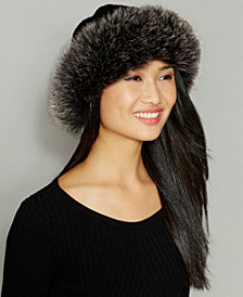 Fox-Fur-Trim Wool-Alpaca-Blend Hat
