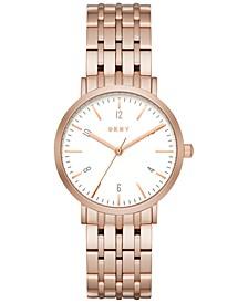 Women's Minetta Rose Gold-Tone Stainless Steel Bracelet Watch 36mm NY2504