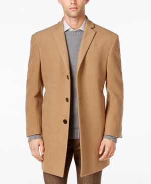 Men's Vintage Jackets & Coats Calvin Klein Mens Prosper X-Fit Overcoat $97.99 AT vintagedancer.com
