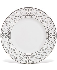 "Vera Wang Wedgwood ""Imperial Scroll"" Accent Plate, 9"""