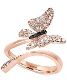 EFFY® Diamond Butterfly Ring  (3/8 ct. t.w.) in 14k Rose Gold