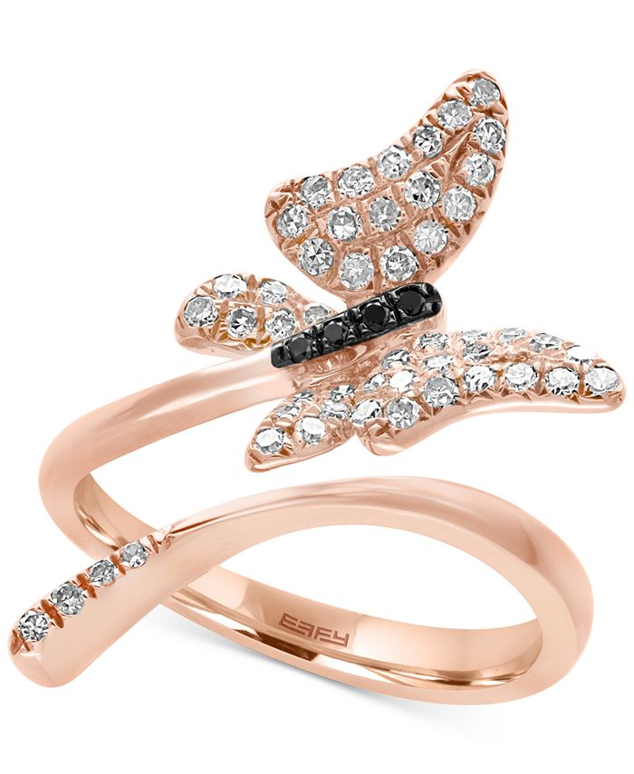 EFFY Collection - Diamond Butterfly Ring  (3/8 ct. t.w.) in 14k Rose Gold