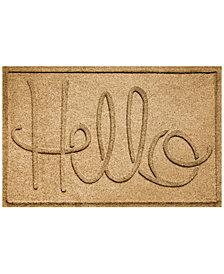 Bungalow Flooring Water Guard Simple Hello 2'x3' Doormat