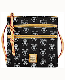 Dooney & Bourke Oakland Raiders Triple-Zip Crossbody Bag