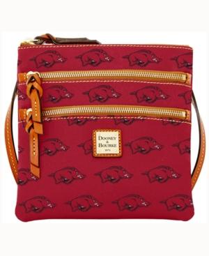 Arkansas Razorbacks Triple-Zip Crossbody Bag