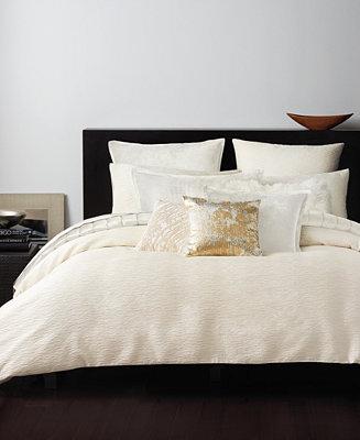 Donna Karan Rhythm Ivory Bedding Collection Bedding