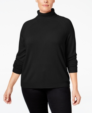 Shop 1960s Style Blouses, Shirts and Tops Karen Scott Plus Size Turtleneck Sweater Only at Macys $13.99 AT vintagedancer.com