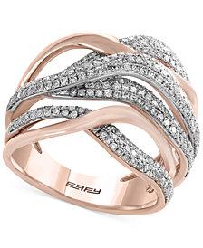 Pavé Rose by EFFY Diamond Ring (3/4 ct. t.w.) in 14k Rose Gold