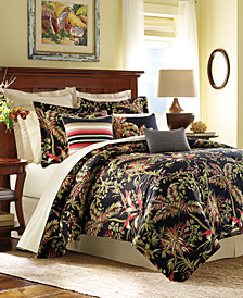 CLOSEOUT! Tommy Bahama Jungle Drive Floral-Print King 4-Pc. Comforter Set