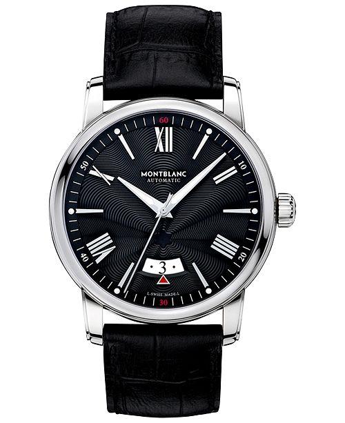 20690812268 ... Montblanc Men s Swiss Automatic 4810 Black Alligator Leather Strap Watch  42mm 115122 ...